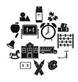 kindergarten symbol icons set simple style vector image vector image