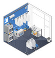 laundry and dry cleaning isometric concept vector image vector image
