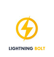 lightning bolt sign icon vector image