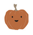 lovely and cute halloween pumpkin art vector image