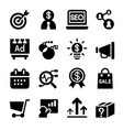 marketing icon set vector image vector image