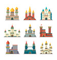 medieval castles palace tower fairytale vector image vector image