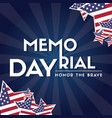 memorial day remember and honor vector image vector image