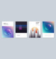 minimal brochure templates with colorful abstract vector image vector image