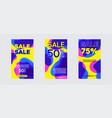modern fluid for big sale banners design discount vector image vector image