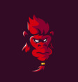 monkey mascot logo design with modern vector image