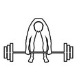 muscular man weightlifter doing raising the vector image vector image
