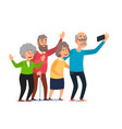 old people selfie senior people taking smartphone vector image