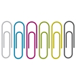 Paper clip isolated on white background vector image