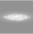 particles of light with bokeh white color vector image vector image