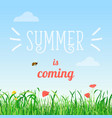 poster of summer is coming vector image vector image