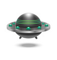 realistic detailed 3d ufo flying spaceship vector image vector image