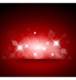 red background with white lights vector image vector image