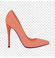 red woman shoe icon flat style vector image vector image