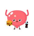 sad suffering sick cute bladder vector image vector image
