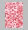seamless color polygonal geometrical mosaic vector image vector image