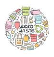 set hand drawn elements zero waste life vector image vector image