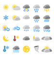 set of 25 weather icon weather label for web on vector image vector image