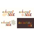 Set of Autumn sale inscription vector image