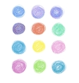 set of hand-drawn circles vector image
