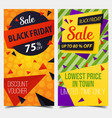 set of isolated labels or tags for black friday vector image vector image