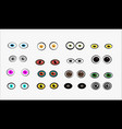 set of monster eyes vector image
