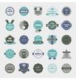 set retro badges vintage labels icons vector image vector image