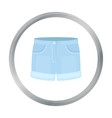 Shorts icon of for web and vector image vector image