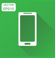 smartphone icon business concept phone pictogram vector image