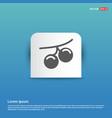 summer grape icon - blue sticker button vector image