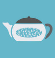 teapot with birds inside vector image