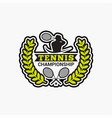 tennis club badge logo-10 vector image