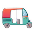 thai tuk taxi icon cartoon style vector image