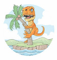 trex summer land vector image vector image