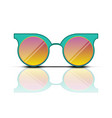 turquoise orange sun glasses isolated on vector image