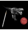 tyranosaur rex attack vector image vector image