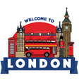 united kingdom icon city vector image vector image
