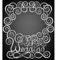 wedding pattern frame vector image vector image