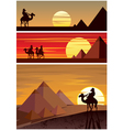 The Pyramids vector image