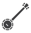 banjo glyph icon music and instrument vector image