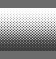 abstract halftone black hexagon isolated on white vector image