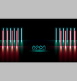 abstract neon lights vertical lines background vector image vector image