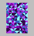 abstract polygonal seamless triangle mosaic page vector image vector image