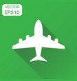 airplane icon business concept plane aircraft vector image vector image
