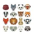 Animal Heads Set vector image