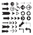 arrow icons symbol collection vector image vector image