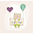 Baby Cat with Balloons - Baby Shower Card vector image vector image