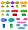 Balloons bunches with banners set vector image