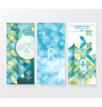 Banners with pattern of geometric shapes vector image vector image
