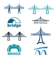 bridge logos collection isolated vector image vector image